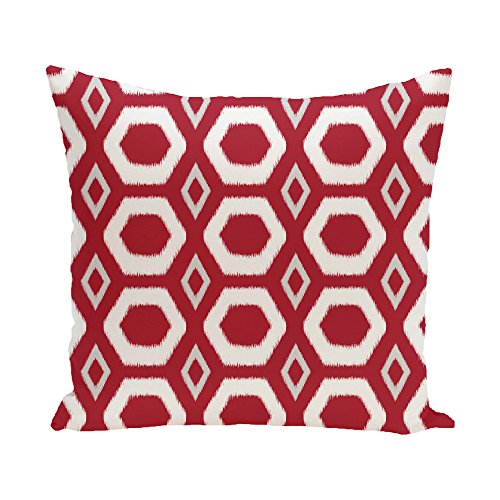 E By Design More Hugs and Kisses Geometric Print Pillow 20-Inch Length Formula One