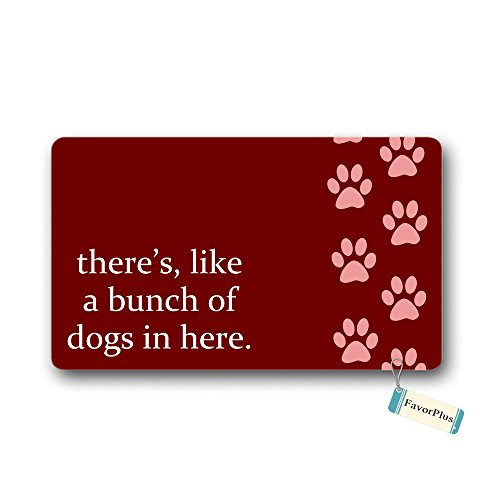 Theres Like A Bunch Of Dogs in Here Funny Entrance Door Mat Machine Washable Rug Non Slip Mats Bathroom Kitchen Decor Area Rug Doormat 236x157 inch