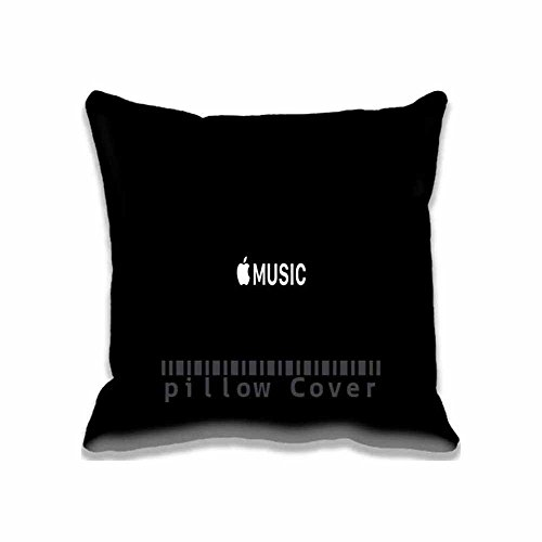Popular Band Decorative Apple Music Throw Pillow Covers - Cotton Zippered Aero Cushion Case for Couch Pillowcase