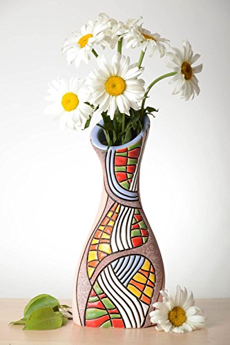Beautiful Handmade Ceramic Flower Vase Pottery Works Clay Vase Design Gift Ideas