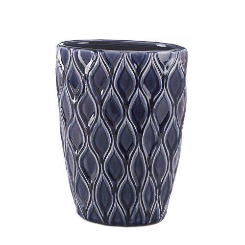 Home Decor Deep Blue Wide Vase