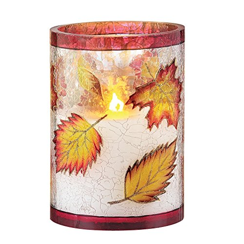 Fall Foliage LED Flameless Candle with Flickering Flame