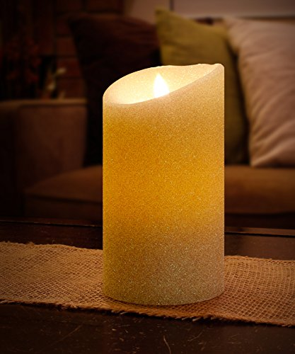 Aluratek ALC3507F 7 Flameless LED Wax Candle with Built-In Timer Cream