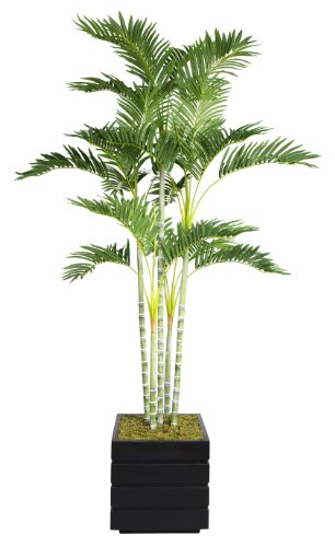 Laura Ashley VHX113204 74-Inch Palm Tree in 14-Inch Fiberstone Planter
