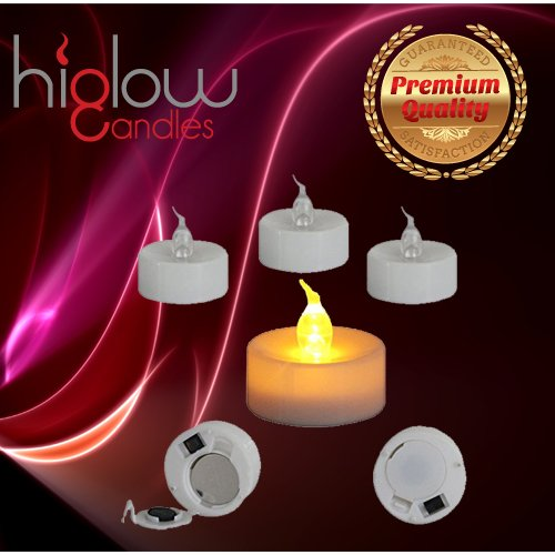 Stunning Flameless LED Tea Light Candles - Realistic Battery-powered Flameless Candles - Beutiful and Elegant Unscented LED Candles - The Perfect Wedding Decoration - 12 Pack - Fake Candles - Eglow LED