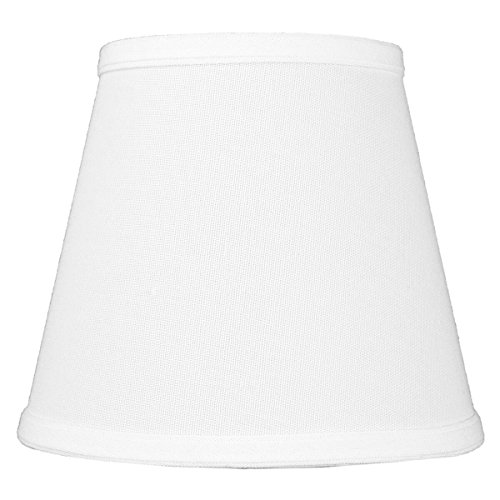 5x8x7 Empire Hardback White Linen Edison Clip-On Lampshade by Home Concept - Perfect for small table lamps desk lamps and accent lights -Small White