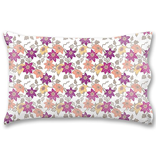 Clematis Dreamgarden In White King Pillow Case Waterproof Luxurious Bathroom Design Woven Fabric