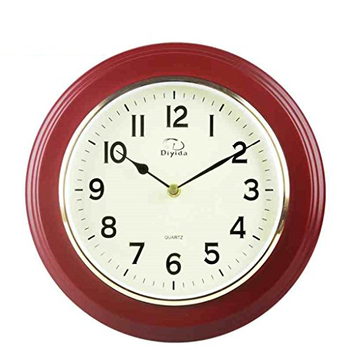 Royal-Solid wood wall clock Chinese style living room Mute Pendant watch Creative Electronic Quartz clock