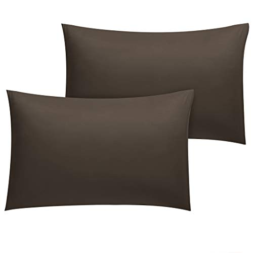 uxcell Pillowcase 2 Pack Luxury 1800 Bedding Brushed Microfiber Pillow Cases Travel Size Wrinkle Fade Stain Resistant CoffeeBrown Pillowcases Covers