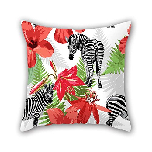 20 X 20 Inches  50 By 50 Cm Zebra Pillowcase Both Sides Ornament And Gift To Indoor Floor Lover Teens Boys Wife Kids Girls