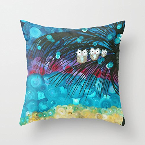 Owl Artwork By MiMi Stirn - Owl Expressions 365 Throw Pillow by MiMi Stirn animal 1818inches