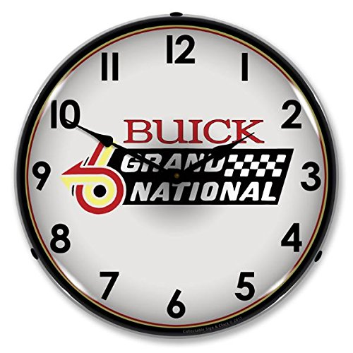 Buick Grand National Logo Lighted Wall Clock 14x14 Inches
