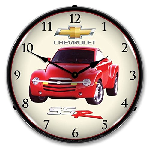 Chevrolet SSR Lighted Wall Clock 14x14 Inches