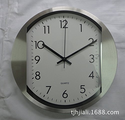 Stainless Steel Wall Clock Silent Large Numbers Cartoon For Living Room Kitchen Kids Teenager Bedroom Wall Art Decor Wedding Party Gift-12 Inches