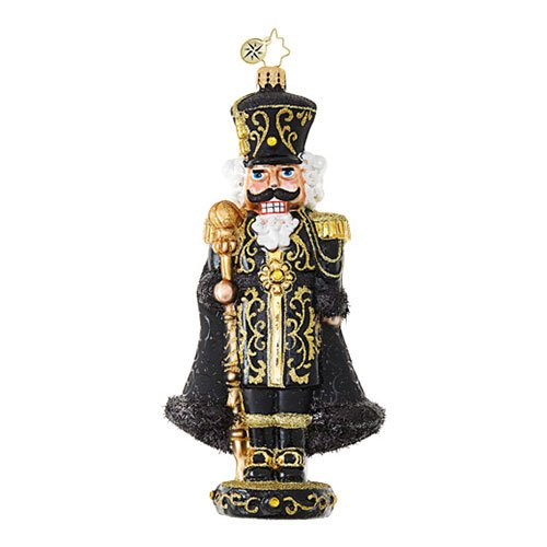 Christopher Radko Nothing Basic About Black Nutcrackers Christmas Ornament