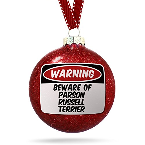 Christmas Decoration Beware of the Parson Russell Terrier Dog from England Ornament