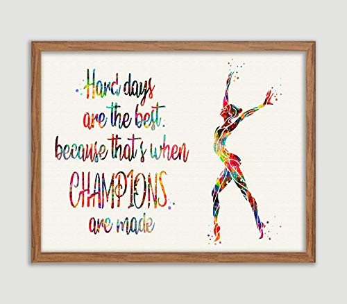 Gymnastics Quote Watercolor Posters Art Prints Sports Wall Decor Artworks Wall Art Dining Room Art Wall Hanging House Warming