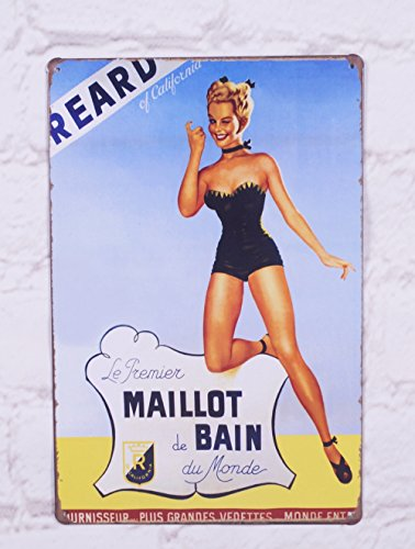 Pin Up Painting Vintage Metal Tin Signs Home Garage Bar Creative Wall Decor Plaque Art Poster