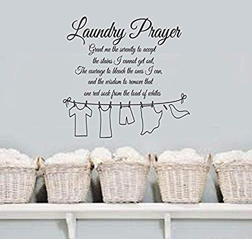 Laundry Prayer Grant Me The Serenity Home Vinyl Wall Lettering Quotes Words Decal Laundry HDS6273