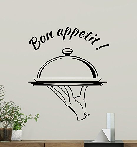 Bon Appetit Wall Decal Kitchen Wall Decals Kitchen Decor Vinyl Sticker Living Room Decor Dining Room Wall Art Design Housewares Kitchen Quote Wall Decor Removable Interior Exterior Wall Mural 233xxx