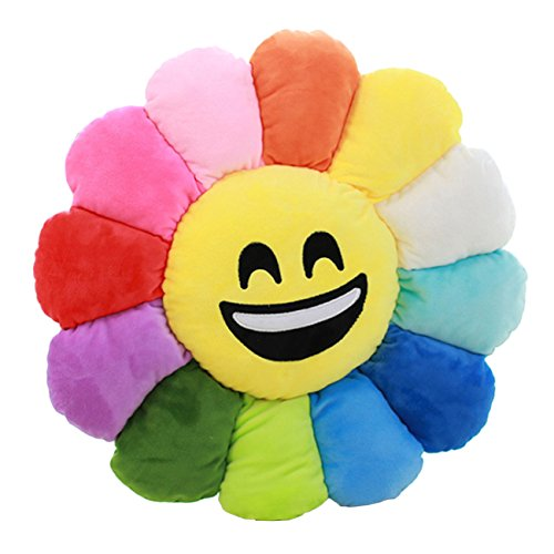 THEE Flower Expression Floor Pillow Plush Seating Cushion Decorative Diameter 50CM
