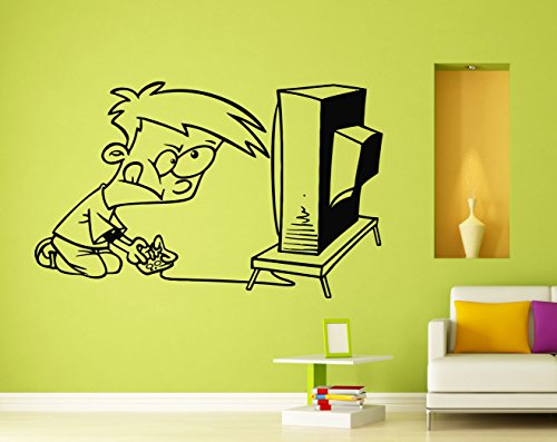 Playing Video Game Wall Decal Vinyl Sticker Wall Decor Removable Decal 17i