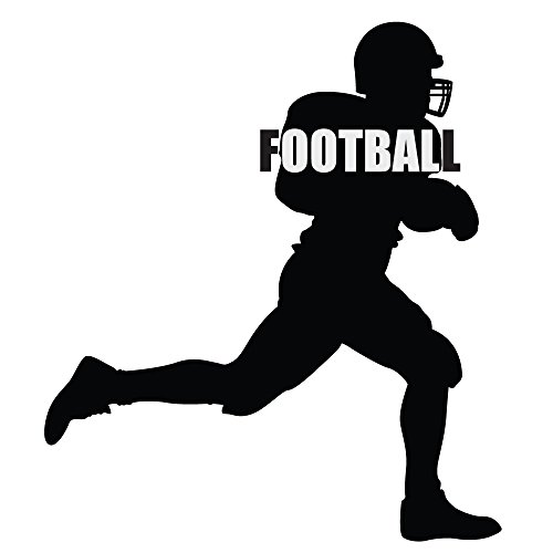 Katazoom Football Silhouette Removable Vinyl Wall Decal 22 X 25 Black
