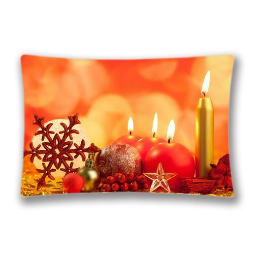 Christmas Candle 20x 30 Home Decor Pillows Cushion Design Pillow Case Covers for PillowsTwin SidesBirthday Gift