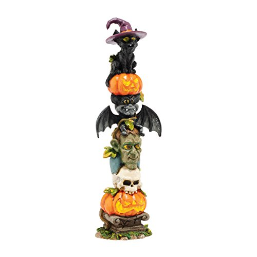 Department 56 Halloween Village Haunted Totem Pole Accessory 675-Inch