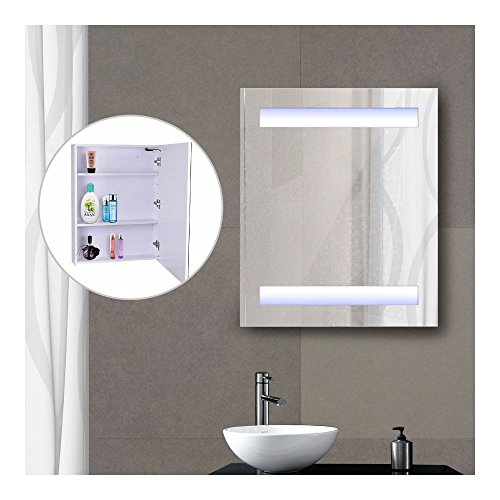 LED Light Wall Mirror Cabinet Lighted Vanity Bathroom Frameless