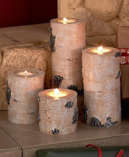 Set of 4 Woodland Tea Light Candleholders by GetSet2Save