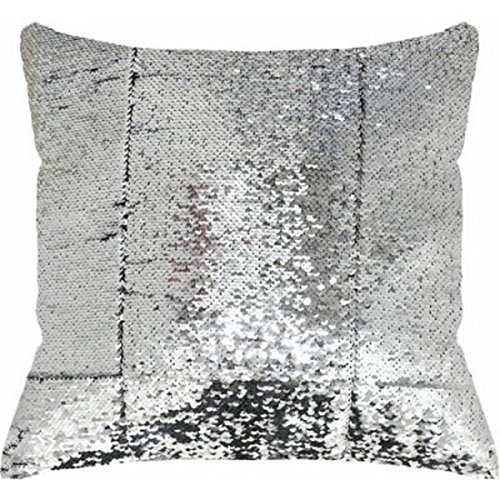 17x17 Silver Fashionable And Reversible Sequin Decorative Pillow Brings Modern Style And Luxury To A Room