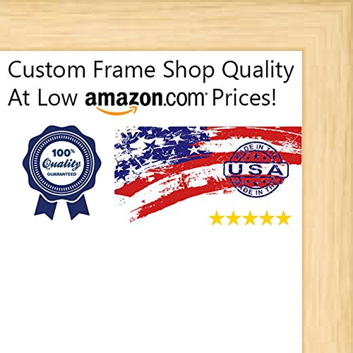 17x21 Contemporary Natural Wood Canvas Floater Frame - Canvas Mounting Hanging Hardware Included