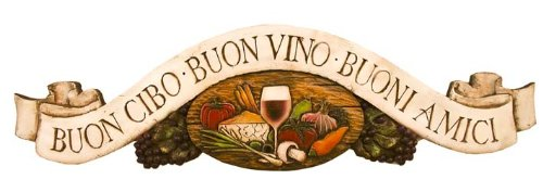 Piazza Pisano Italian Good Food Good Wine Good Friends Door Topper