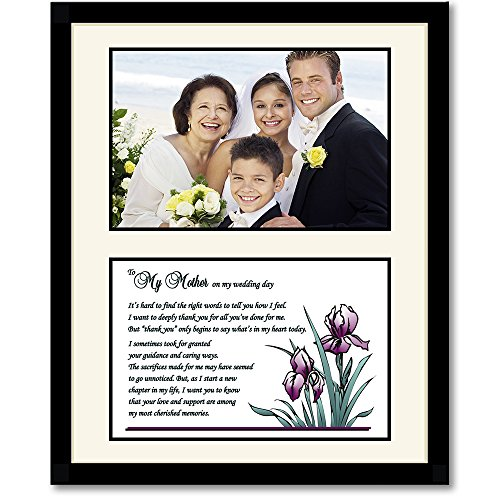 Thank You Gift for Mom from Son or Daughter on Their Wedding Day - Sweet Poem for Mom in 8x10 Inch Black Frame - Room for a Photo