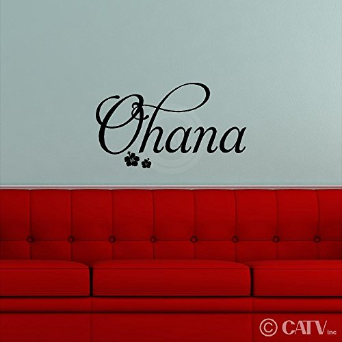 Ohana Family wall saying vinyl lettering art decal quote sticker home decor