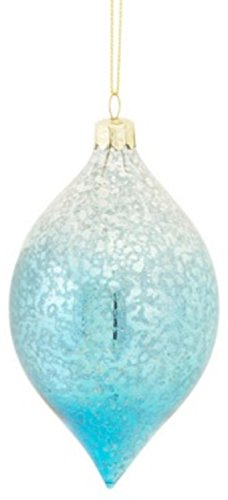 55 Christmas Traditions Fade to Blue Mercury Glass Finial Holiday Ornament