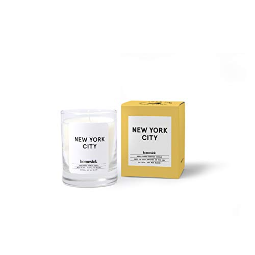 Homesick New York City Mini Scented Candle 10 to 12 hr Burn Time 15 oz