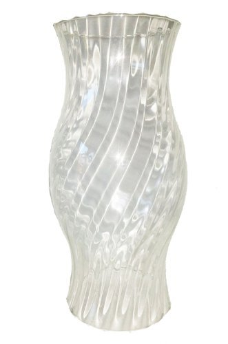 Wind Light Clear Glass Cylinder Bottomless with Optical Grooves Outside Decorative Hurricane Lamp Candle Holder for Different Candles Height Approx 29 Cm Top Approx 115 Cm Oberstdorfer Glashütte
