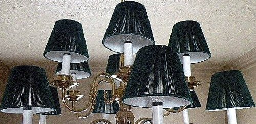 2 Hunter Green Mini Shades for Chandelier or Candle Lights17B10