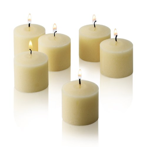 French Vanilla Scented Candles - Set of 12 Scented Votive Candles - 10 Hour Burn Time - Made in The USA