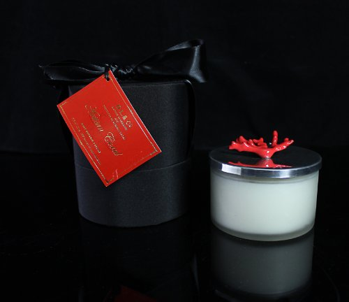 DL Coral Artisan Lid Candle 11-Ounce