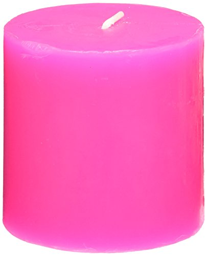 Zest Candle Pillar Candle 3 by 3-Inch Hot Pink