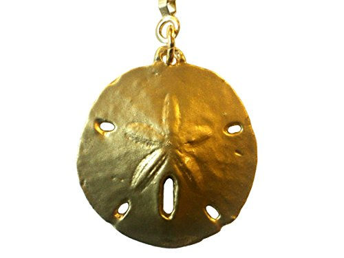 Brass Finished Pewter Sanddollar Ceiling Fan Pull Chain