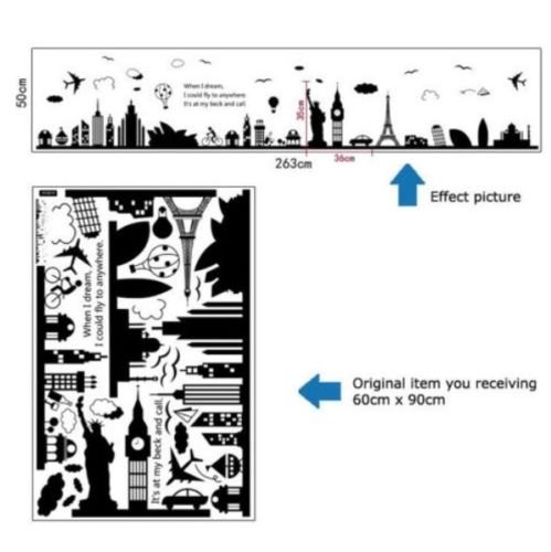 World Famous Building Removable DIY Vinyl Art Decor Home Room Wall Sticker Decal
