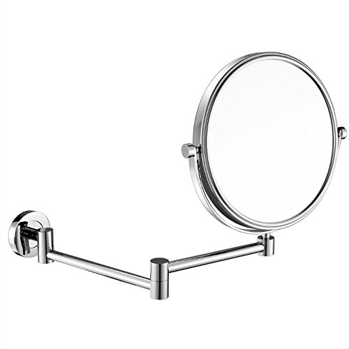 GuRun 6 Inch Two-Sided Swivel Wall Mounted Mirror Vanity Mirror with 5x MagnificationChrome Finish M13056in5x