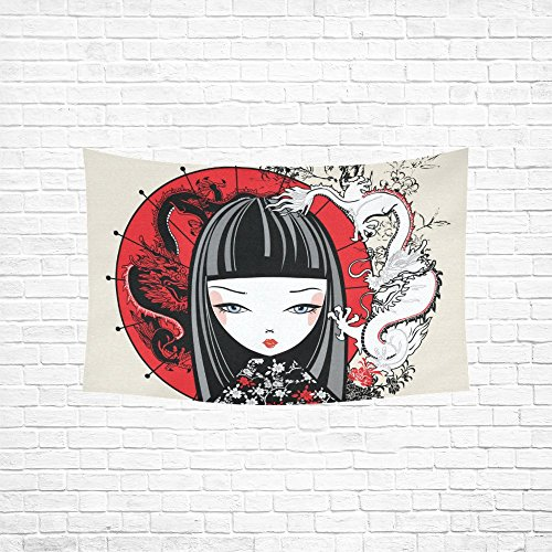 your-fantasia Custom Japanese Girl Wall Hanging Tapestry Home Decoration 60 x 40 inches
