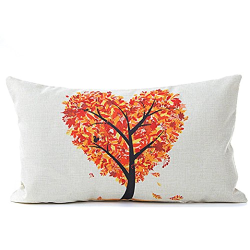 Gotd 12x20 Pillowcase Hear Flow Floral Classical Sofa Seat Pillow Case Cushion Cover Gifts For Decorations Ornaments Decorative Decor C