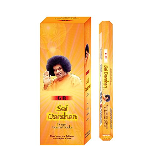 GR Sai Darshan Incense Sticks Fragrance Aroma - Pack of 6 Boxes 120 Sticks