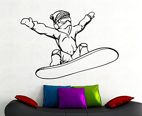 Snowboarder Wall Decal Snowboarding Sticker Home Interior Design Extreme Sports Room Decor Bedroom Wall Art Removable Mural 4cnz